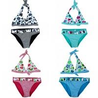 2014 New Children  clothing Swimwear Baby Girls Kids Cartoon Lovely flowers Bikini Two Pieces swimsuit Bathing suit Beachwear