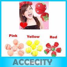 p80 3sets( 18pcs)/cabelo muito esponja macia encrespador tira o rolo enrolar magia crimper twist ferramenta beleza amarelo/rosa/morango(China (Mainland))