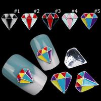 Colorful Oil Drops 3d Alloy Nail Art,50pcs/lot Fashion Designs UV Gel Nail Art Tools,DIY Beauty Nail Craft,Nail Decoration Tool