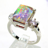 Mystery Fire Opal Women Ring Factory Directly Price Ring DR03010684Rb-4.7G Free Shipping