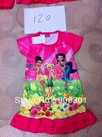 Cartoon girl dress baby girls dress miniskirtChildren's clothes246222