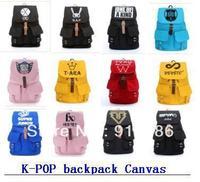 (free shipping CPAM) 5 Pcs/lot  K - pop kpop Korean stars sj super junior school bag rucksack with size 44*13*33cm backpack