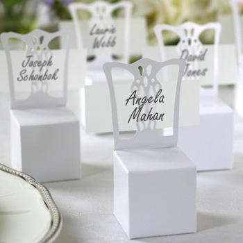 100pcs/lot Wedding White Chair Candy Box Wedding Gift Box Wedding Favors Wholesale(China (Mainland))