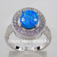 Fashion Jewelry Big Round Opal inlay Women Ring Factory Directly Price Ring DR0300978R-A Free Shipping