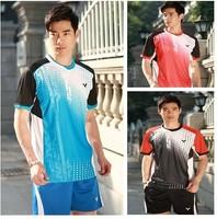 wholesale! Free  2014 New VICTOR Badminton Jerseys Mens KOREA / Badminton Clothes / Badminton t-shirt /Tennis shirt Sportswear