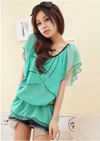 2014spring ang summer Fashion and elegant chiffon blouse womenblouse Cool and breathable free shipping!