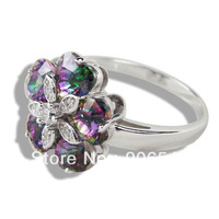 100% Size 5 925 silver ring, 925 silver fashion jewelry ring fashion ring DR03011023R OV 10X18 Stone size  Free Shipping