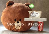 Cute cartoon LINE APP Office workers brown bears plush toy bear pillow line bear cushion Free shipping