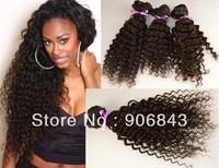Peruvian Virgin Hair Deep Wave Kinky Curly Human Hair Extensions 12 - 28 Inch Hot Selling
