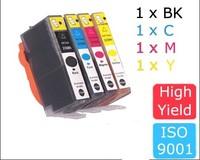 4 ink cartridge with chip for HP 364 364XL photosmart 5514/5515/6510 6512 Photosmart Plus B209a/B209c/B210a/B210c Deskjet 3070A