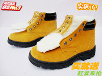 Winter safety   steel toe cap covering thermal work shoes   cotton-padded  protective