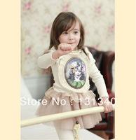 Free Shipping New in 2014 Hot sell kids korea design lace princess dresses ,girls spring fashion beautiful dress D-052