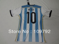 free shipping!!! 2014 World Cup Best Thai quality Argentina home blue woman Girl Female #10 MESSI soccer Football jersey
