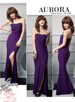 Free Shipping deaded gem slim tube 2014 new evening dresses for girl