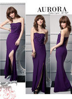 Free Shipping deaded gem slim tube 2014 new evening dresses for girl