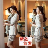 2014 Spring and autumn women slim blazer outerwear  medium-long suit ol 660,free shipping