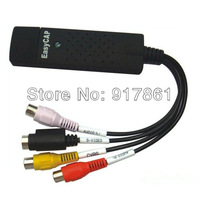 Free Shipping New EasyCAP DC60 USB 2.0 TV DVD VHS Video Audio AV Capture Card Support WIN 7