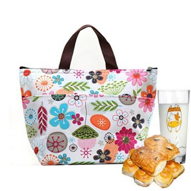 Novo Oxford tecido Thermo impressão térmica Lunch Box Bag duplas Cooler Bag Picnic jantar viagem bolsa Hot Sale BFCF-87(China (Mainland))