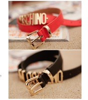 unisex belts leather with metal letters gold women's designer fashion belt men belts