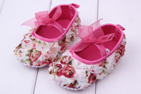 Free Shipping Fashion Very Cute Children's Shoe Bow Flowers Baby Shoes Soft Sole Baby Shoe Girls