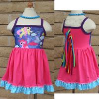 (1piece) new 2014 Summer baby & kids girl princess dress, flower girl dresses bow 3-layer baby clothing child dress