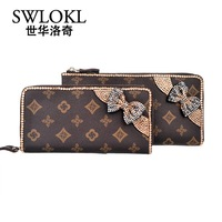 Shihua swlokl diamond bow evening bag fashion bag women's clutch wallet