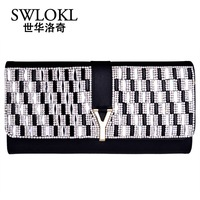 Shihua y diamond buckle day clutch 2014 women's handbag cross genuine leather clutch bag