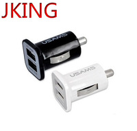Large capacity 2000ma 3.1A Mini Micro auto dual double usb car charger for i phone ipod ipad ipad2,1pcs/lot free shipping