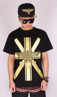 2014 street fashion short sleeve eagle pattern printing t-shirt Boy london cotton t shirts hba geek  rocky rockstar rock music