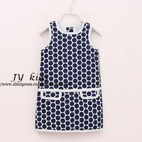 2014 girls dress summer dress polka dot casual dress baby girls dress girl clothing children clothing