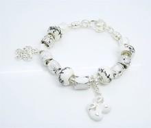 PN010 High Quality Women Jewelry 2014 New Items Glass Bead Charm Bracelet European Brand Bracelets & Bangles For Women Gifts