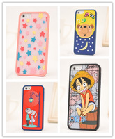Case For iPhone5 ,2014 New Three-piece Cartoon Pattern Case For iPhone5 5S Hard Borders Back Cover Combination Cases For iPhone5