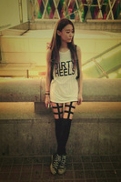 Fashion sexy 2013 street HARAJUKU fishbone black cutout legging elastic slim hip pants Women