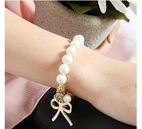 2014 New Fashion exquisiteness butterfly bow pearl bracelet jewelry