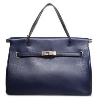 2014 Fashion women lady's genuine leather tote shoulder messenger hand bag, vintage , gift, 3 colors female bag on promotion