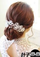 Hot! New Free Shipping Unique Handmade Acrylic Bridal Wedding Hair Headwear Pearl Headpiece Accessory