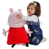 In Stock Big size Peppa Pig Plush Toy Kawaii Stuffed Pig Plush Animal Dolls for girls 62cm giant Peppa Free shipping