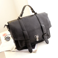Free Shipping  New 2014  high quality briefcase fashion vintage PU Leather Women Bag Messengerbag cross-body