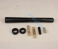 Universal Aluminum Carbon Fiber Car AM/FM Radio Antenna  - Black Model