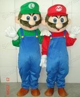 SUPER Mario AND Luigi 2  Mascot Costume  Cartoon Character Costumes mascot costume Fancy Dress Party Suit