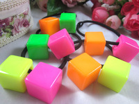 (Our min Order Amount is USD15 ,Can mix order)Free shipping cute candy color summer child hair ties
