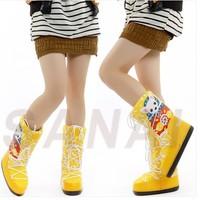 2014 hot selling winter fashion Women girls ladies children kids gift animal motifs knee-high moon boots space snow shoes