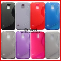 Wholesale Galaxy S5 TPU Case,Newest S Line Soft TPU Gel Cover Case For Samsung Galaxy S5 I9600 SV 8 Color 200pcs