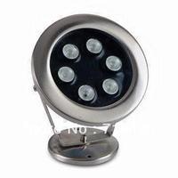 Single Color 3pcs/lot 6W High Power IP68 Waterproof LED Underwater Lamp Underwaterlight Two Years Warranty