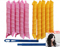2014 Hot Selling Curlers magic hair curler stick products TV shopping DIY hair curlers55cm long 10pcs+hook=1 pack