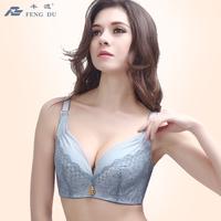 Deep V-neck women's sexy underwear the eurygaster furu adjustable bra push up big 8433 thin lace