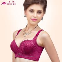 Spring high quality adjustable bra accept supernumerary breast push up bra small underwear soft balls massage 8409