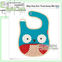 For Skip Zoo Tuck-Away Bib Owl free shipping