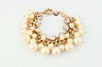 Caroline simulated-pearl multi-layer bracelet