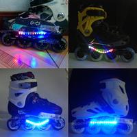 FREE SHIPPING Roller tool holder lamp skating shoes lamp flash light drift board plate lamp skateboard plate lamp